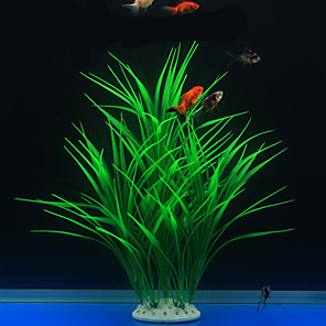 cheap Aquarium Décor & Gravel-Fish Tank Aquarium Decoration Waterplant Artificial Plants Non-toxic & Tasteless Plastic