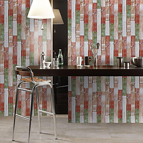 cheap Wallpaper-Simulation Fir Pattern Floor Stickers Color Wall Stickers Pvc Waterproof And Wear-resistant Thick Stickers