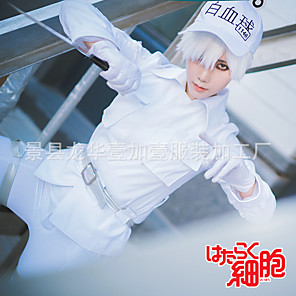 cheap Anime Costumes-Inspired by Cells at Work Anime Cosplay Costumes Japanese Cosplay Suits Top Pants Gloves For Men's / Hat / Waist Belt