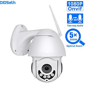 cheap Outdoor IP Network Cameras-DIDSeth 1080P WIFI IP Camera PTZ 5X Optical Zoom Speed Dome ONVIF CCTV Outdoor Waterproof 2MP Two Way Audio Camera iCsee
