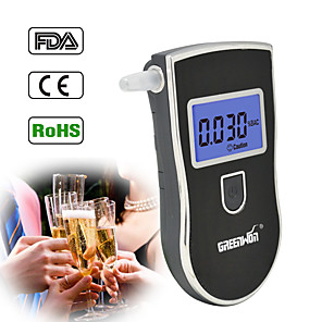 cheap Testers & Detectors-NEW Hot selling AT-818 Professional Police Digital Breath Alcohol Tester Breathalyzer AT818 Free shipping