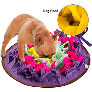 cheap Synthetic Trendy Wigs-Feeding Mat Snuffle Mat Dog Pet Toy 1pc Flower Foldable Washable Pet Exercise Encourage Natural Foraging Skills Polyester Gift
