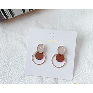 cheap Earrings-Women's Earrings Classic Love Classic Vintage Earrings Jewelry Coffee For Gift Daily 1 Pair