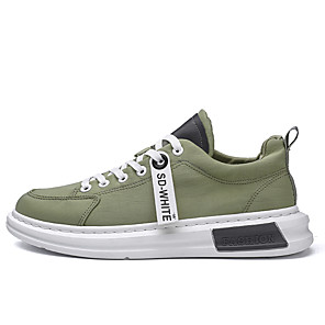 cheap Men's Slip-ons & Loafers-Men's Summer / Fall Sporty / Casual Daily Outdoor Trainers / Athletic Shoes Running Shoes Denim Breathable Non-slipping White / Black / Green