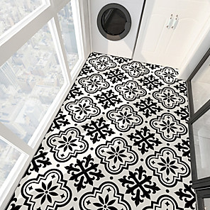 cheap Wall Stickers-PVC antiskid twill Print Black French stone floor paste bathroom bedroom living room DIY floor paste
