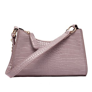 cheap Handbag & Totes-Women's Bags PU Leather Top Handle Bag for Daily Black / Purple / Green