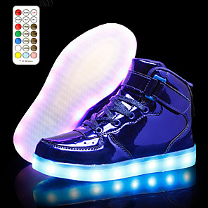 cheap Kids' LED Shoes-Unisex Light Up Shoes Fall & Winter LED Daily Sneakers PU Black / Blue / Pink