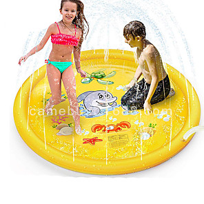 cheap Inflatable Ride-ons & Pool Floats-Splash Pad Sprinkler for Kids Water Toys Inflatable Pool Outdoor Plastic Outdoor Boys and Girls Child Kid's / Develop Creativity