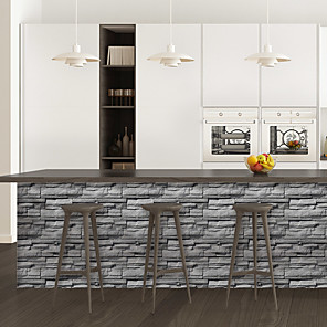 cheap Wall Stickers-Limestone brick pattern PVC simulation self-adhesive DIY decorative wall stickers bar stickers