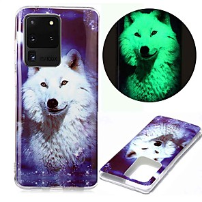 cheap Samsung Case-Case For Samsung Galaxy S20 S20 Plus S20 Ultra Glow in the Dark Pattern Back Cover Star Wolf TPU for Galaxy A21 A11 A01 A70E A51 A71