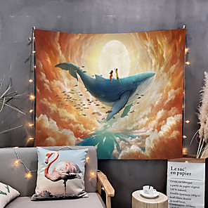 cheap Wallpaper-Home Living Tapestry Wall Hanging Tapestries Wall Blanket Wall Art Wall Decor Flower Moon Tapestry Wall Decor