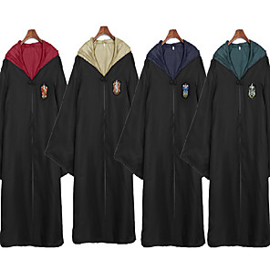 cheap Everyday Cosplay Anime Hoodies & T-Shirts-Assassin Magic Harry Gryffin d'or Slytherin Cloak Men's Women's Movie Cosplay Yellow / Red / Green Terylene