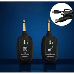 cheap Amplifiers & Effects-ammoon WS-10 Digital 2.4Ghz Audio Wireless Electric Guitar Transmitter Receiver Set