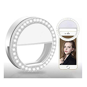 cheap Ring light-Round Selfie Ring Light LED Smart Light 3 Modes / Dimmable / Selfie Light AAA Batteries Powered 2pcs