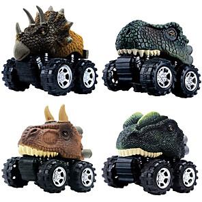cheap Toy Cars-Vehicle Playset Pull Back Car / Inertia Car Jurassic Dinosaur Tyrannosaurus Tyrannosaurus Rex Creative Cool PVC (Polyvinylchlorid) Plastic Mini Car Vehicles Toys for Party Favor or Kids Birthday Gift
