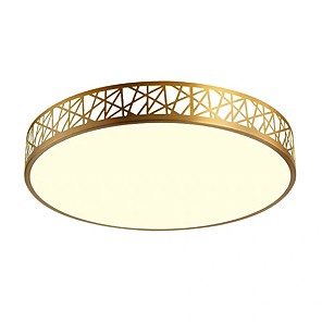 cheap Dimmable Ceiling Lights-QIHengZhaoMing 40 cm Geometric Shapes Flush Mount Lights Metal Brass Modern 110-120V / 220-240V