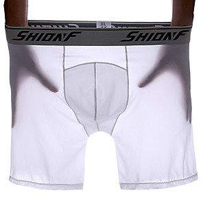 cheap Wetsuits, Diving Suits & Rash Guard Shirts-Men's Sports Underwear Boxer Brief Trunks Athletic Shorts Underwear Shorts Bottoms Elastane Running Walking Jogging Training Breathable Quick Dry Soft Sport White Black Blue Gray Fashion / Stretchy