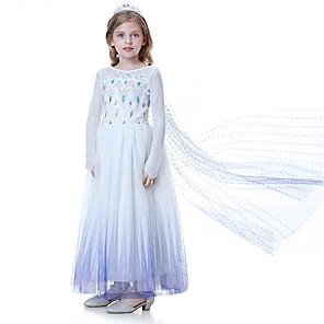 cheap Movie & TV Theme Costumes-Elsa Dress Crown Movie Cosplay Light Purple Dress Tiaras