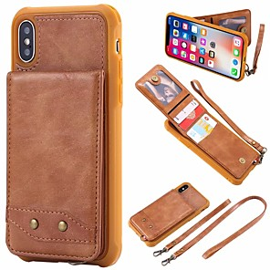 cheap iPhone Cases-Case For Apple iPhone 11 / iPhone 11 Pro / iPhone 11 Pro Max Wallet / Card Holder Back Cover Solid Colored PU Leather