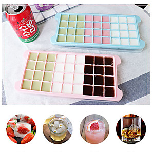 cheap Bakeware-24 Grid Ice Cube Mold Silicone Ice Cube Tray Square Ice Tray Mold Easy Release Silicone Ice Cube Maker Bar Kitchen Accessories