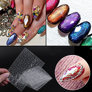 cheap Rhinestone & Decorations-1 pcs Foil Sticker Creative nail art Manicure Pedicure Multi Function / Durable Simple / Basic Daily