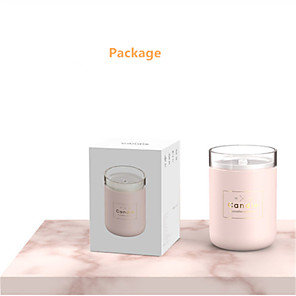 cheap Humidifiers-280ML Ultrasonic Air Humidifier Candle Romantic Soft Light USB Essential Oil Diffuser Car Purifier Aroma Anion Mist Maker