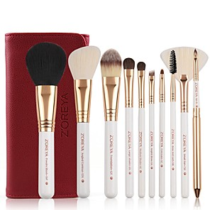 cheap Makeup Brush Sets-Professional Makeup Brushes 10pcs Soft Bamboo for Foundation Brush Eyeshadow Brush Makeup Brush Set