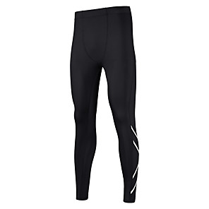 cheap Running & Jogging Clothing-Men's Running Tights Leggings Compression Pants Athletic Tights Leggings Bottoms Fitness Gym Workout Running Jogging Training Breathable Moisture Wicking Reflective Strips Sport Black Fashion