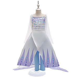 cheap Movie & TV Theme Costumes-Fairytale Frozen Dress Costume Girls' Movie Cosplay Cosplay Princess Purple (With Accessories) Dress Children's Day