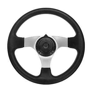 cheap Steering Wheel Covers-270mm Steering Wheel 3 Bolt Fixing Gokart Offroad Project Build Kart ATV Farmer Ergonomic Grip