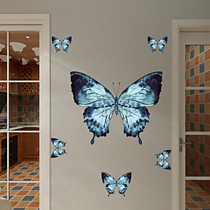 cheap Wall Stickers-Color Butterfly Wall Stickers Animal Wall Stickers Decorative Wall Stickers PVC Home Decoration Wall Decal Wall / Window Decoration 1pc