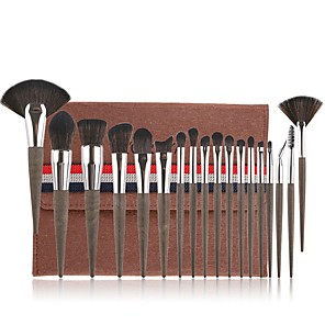 cheap Makeup Brush Sets-Professional Makeup Brushes 18pcs Soft Artificial Fibre Brush Plastic for Foundation Brush Eyeshadow Brush Makeup Brush Set