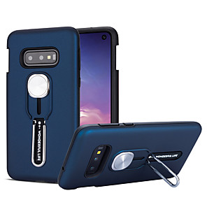 cheap Samsung Case-Case For Samsung Galaxy S10/S10E/S10 Plus/S9/S9 Plus/S8/S8 Plus/A50S/A30S/Note 10/Note 10 Plus Shockproof / with Stand Back Cover Solid Colored TPU / Plastic