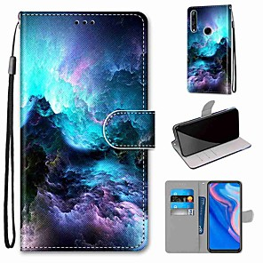 cheap Other Phone Case-Case For Huawei P40 Huawei P40 Pro Huawei P40 lite E Wallet Card Holder with Stand Full Body Cases Colorful Cloud Storm PU Leather TPU for Huawei Mate 30 Lite Honor 10 Lite Honor 9A
