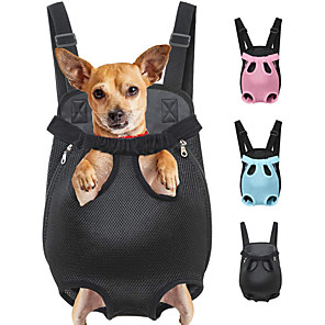 cheap Dog Clothes-Cat Dog Carrier Bag & Travel Backpack Front Backpack Portable Breathable Solid Colored Polyester Leopard Black Purple