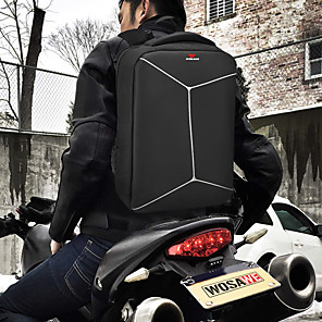 cheap Backpacks & Bags-WOSAWE 20-35 L Hiking Backpack Rain Waterproof Outdoor Hiking Motobike / Motorcycle School Oxford Cloth Polyester Black+Sliver