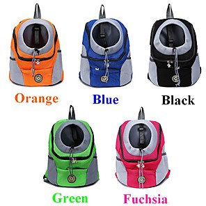 cheap Dog Clothes-Dog Cat Pets Carrier Bag & Travel Backpack Dog Backpack Travel Casual Casual / Daily Fashion Nylon Baby Pet puppy Small Dog Outdoor Hiking Black Fuchsia Orange