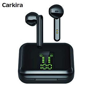 cheap TWS True Wireless Headphones-CARKIRA X15 TWS True Wireless Earbuds Wireless Stereo with Microphone with Volume Control with Charging Box Smart Touch Control for Sport Fitness