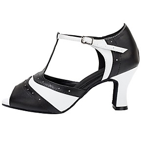 cheap Latin Shoes-Women's Dance Shoes Latin Shoes Heel Cuban Heel Black / Performance