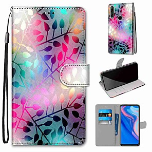 cheap Other Phone Case-Case For Huawei Huawei P20 Pro / Huawei P20 lite / Huawei P30 Wallet / Card Holder / with Stand Full Body Cases Scenery PU Leather / TPU