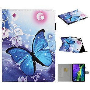cheap iPad case-Case For Apple iPad Air / iPad Mini 3/2/1 / iPad Mini 4 Card Holder / with Stand / Pattern Full Body Cases Butterfly PU Leather