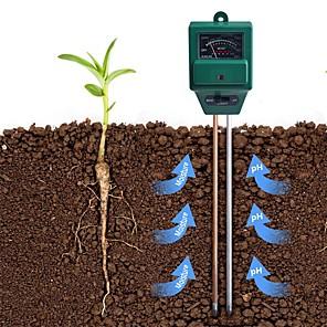 cheap Testers & Detectors-3 in 1 Plant Flowers Soil PH Tester Moisture Measuring humidity Light Meter Hydroponics Analyzer Gardening Detector Hygrometer