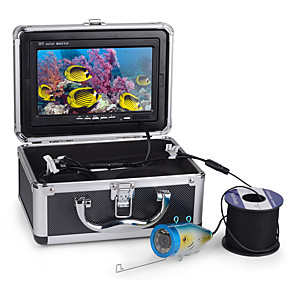 cheap Indoor IP Network Cameras-7in Monitor 30m 1000TVL Underwater Fishing Video Camera Fish Finder with 8G TF Card 1/4 Inch CCD Bullet Cameras IP68
