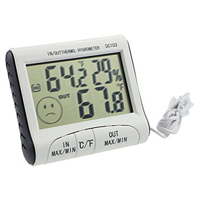 cheap Test, Measure & Inspection Equipment-DC103 Digital LCD Portable Indoor Outdoor Thermometer Hygrometer