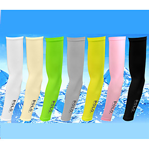 cheap Golf Clubs-Men's Women's 2 Pairs Tennis Golf Arm Sleeves Letter UV Sun Protection Breathable Fast Dry Spring Summer Sports Outdoor / Spandex / Nylon / High Elasticity / Moisture Wicking