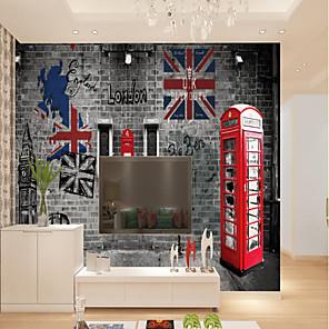 povoljno Zidne tapete-običaj samoljepljivi mural britanski stil slika pogodan za pozadinu zidni restoran spavaća soba hotel zid ukras umjetnost
