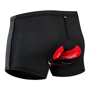 cheap Men's Cycling Underwear & Base Layer-Arsuxeo Men's Women's Cycling Under Shorts Cycling Shorts Silicone Mesh Spandex Bike Underwear Shorts Padded Shorts / Chamois MTB Shorts Breathable Quick Dry Anatomic Design Sports Black Mountain