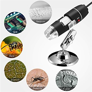 cheap Microscopes & Endoscopes-1000X Pixel Glasses Wifi USB Digital Microscope 8LEDs Electronic Microscope Endoscope Camera Magnifier Lift Stand for Phone Pad