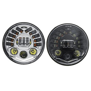 cheap Movie & TV Theme Costumes-7inch LED Projector Headlights Hi/Lo Beam DRL Turn Signal Light For Harley Davidson
