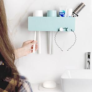 cheap Bathroom Gadgets-Creative Gargle Suit Hanging Couples Family Toothbrush Toothbrush Rack Shelf kit Toothbrush Cu Color Random